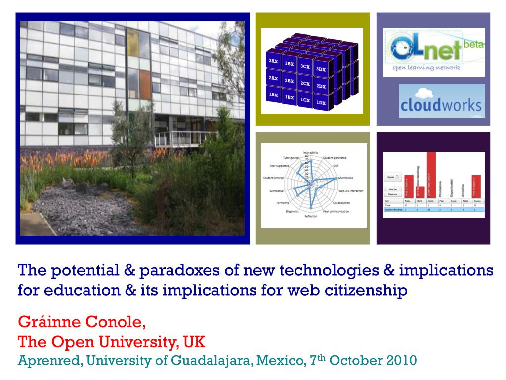 The potential & paradoxes of new technologies & implications for education & its implications for web citizenship