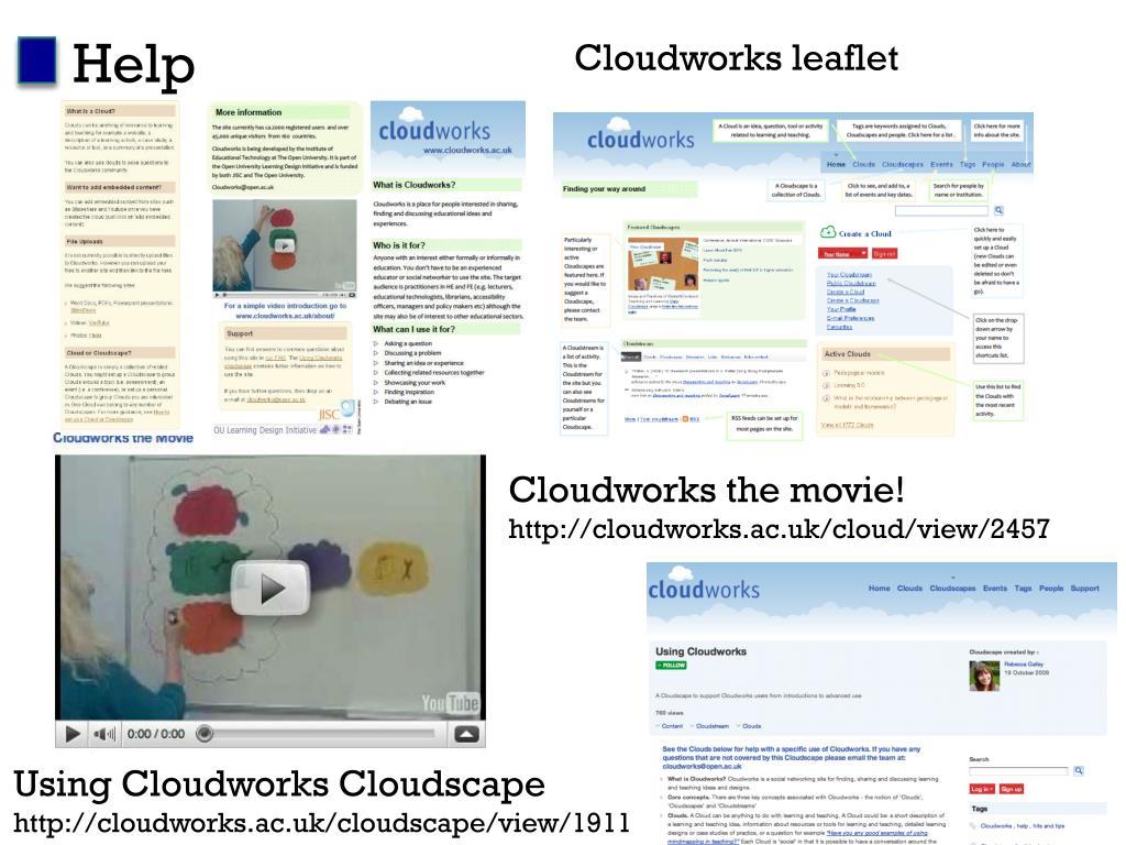 Cloudworks leaflet
