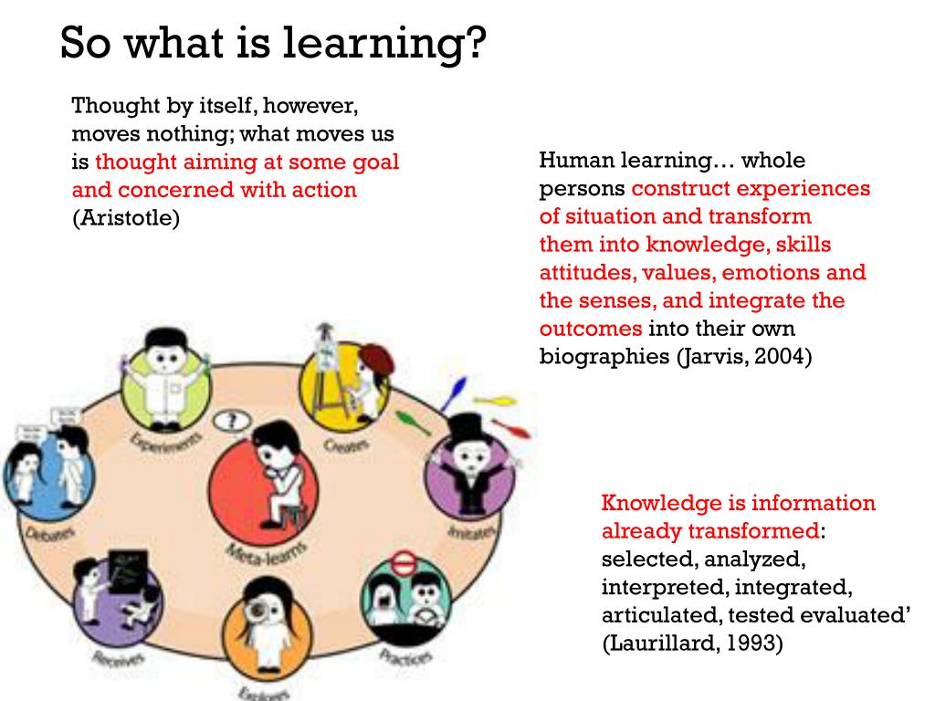So what is learning?