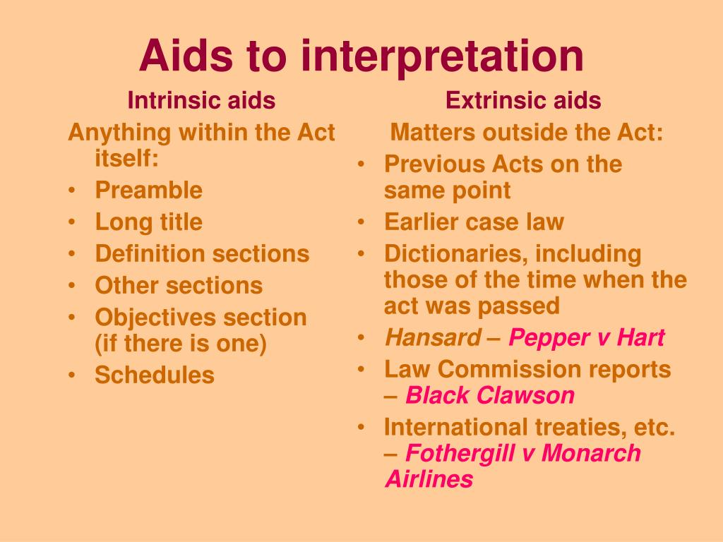 Intrinsic aids