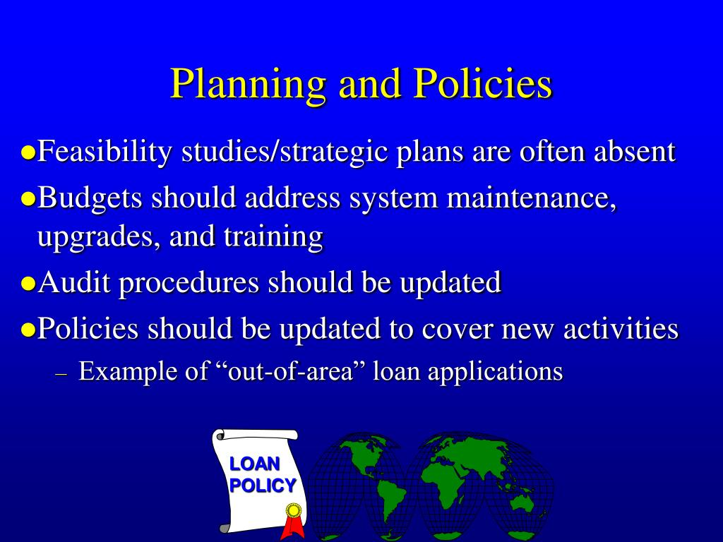 Planning and Policies