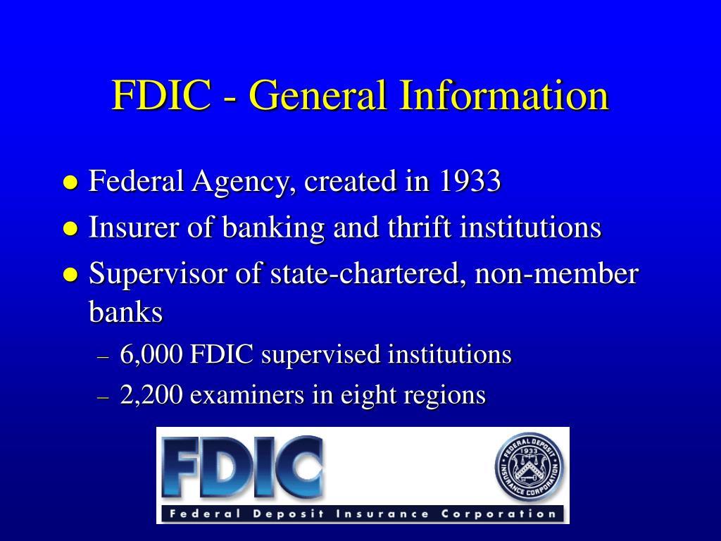 FDIC - General Information