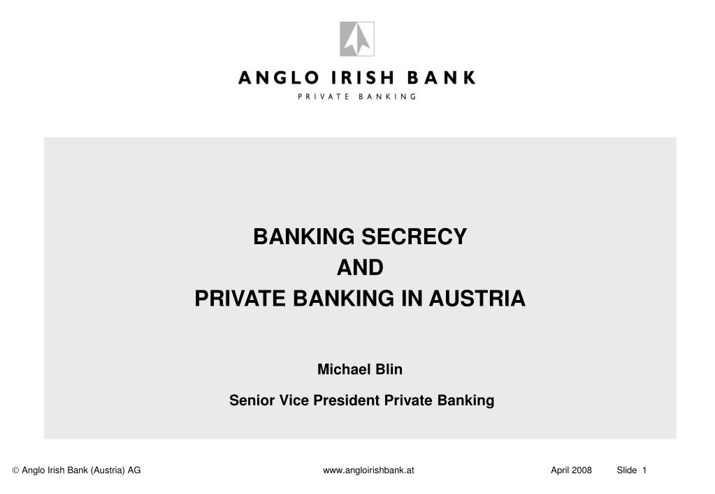 BANKING SECRECY
