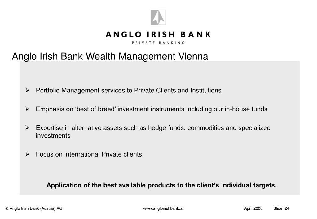 Anglo Irish Bank Wealth Management Vienna