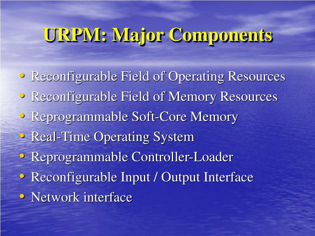 URPM: Major Components