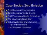 case studies zero emission