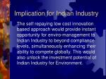 implication for indian industry