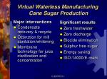 virtual waterless manufacturing cane sugar production