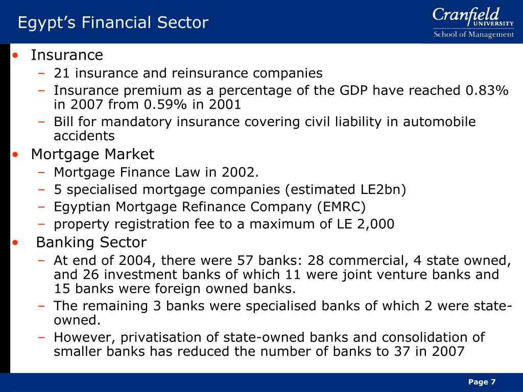 Egypt's Financial Sector