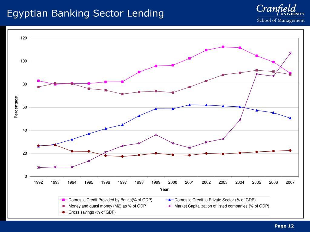 Egyptian Banking Sector Lending