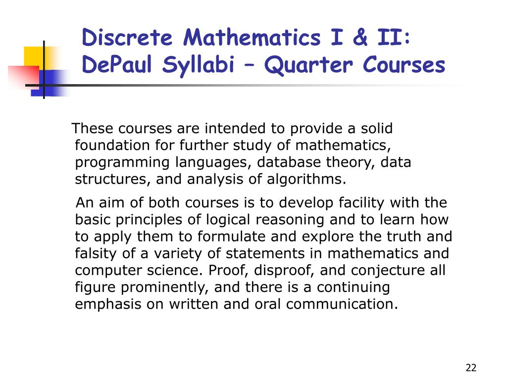 Discrete Mathematics I & II: