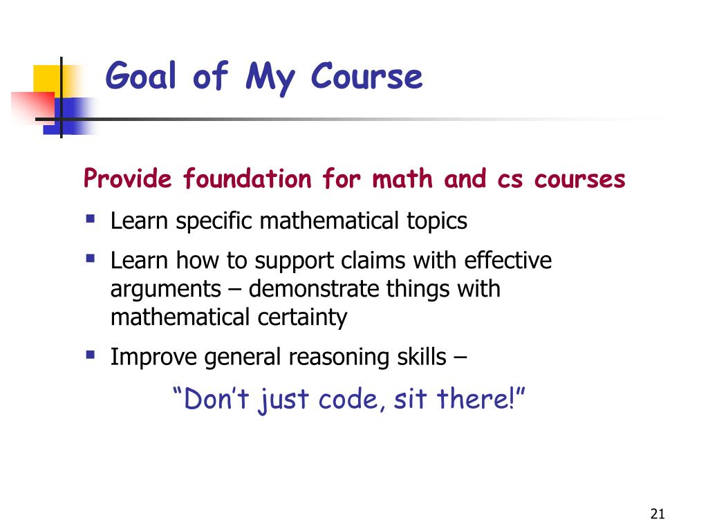 Goal of My Course