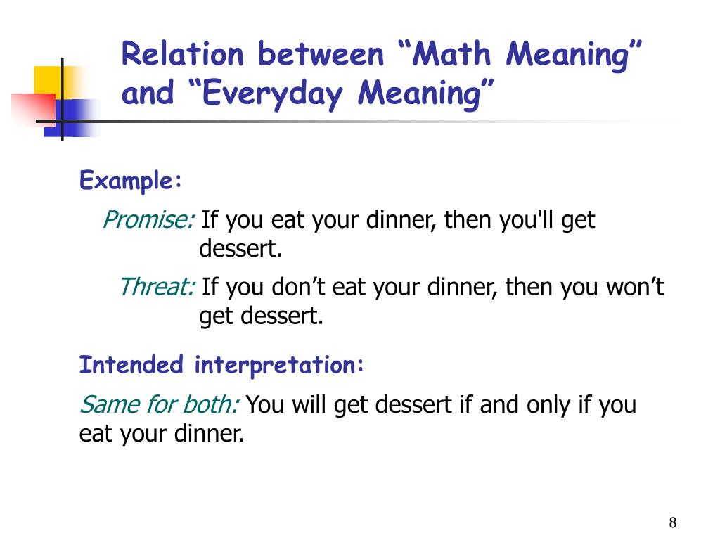 "Relation between ""Math Meaning"" and ""Everyday Meaning"""