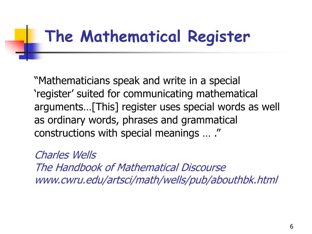 The Mathematical Register