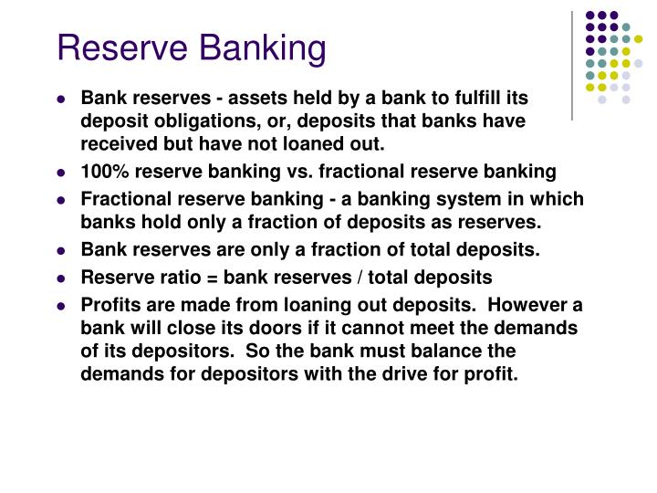 Reserve banking
