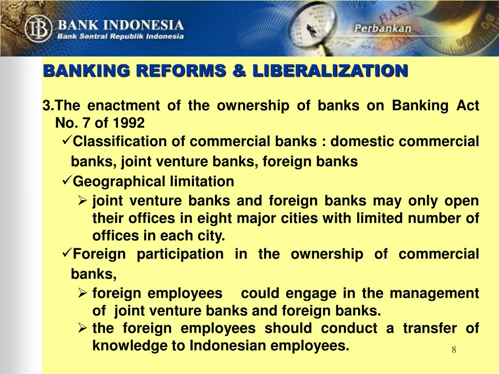 BANKING REFORMS & LIBERALIZATION