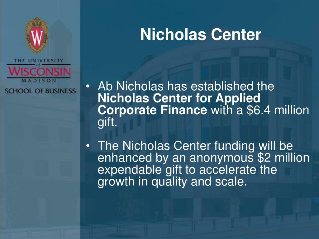 Nicholas Center