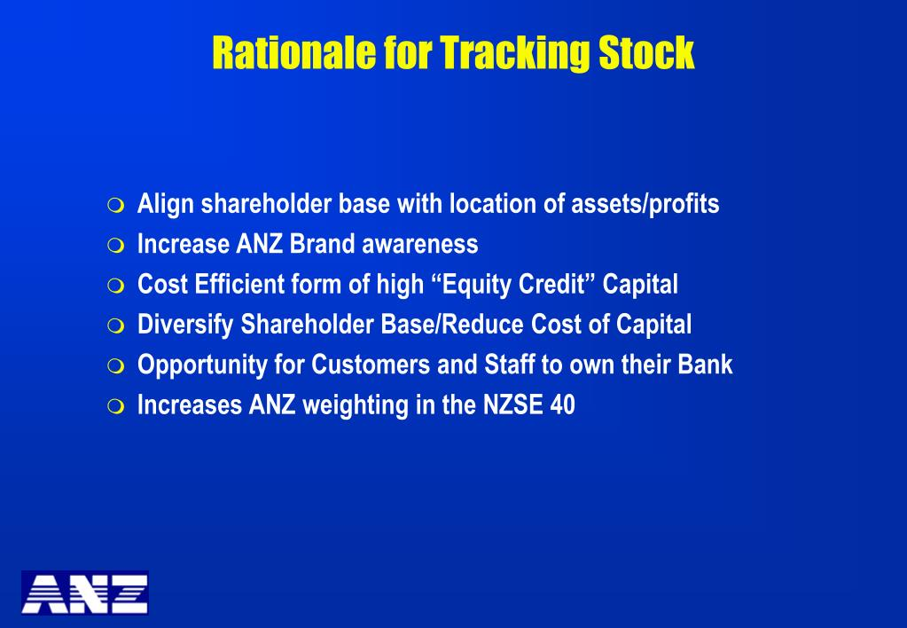 Rationale for Tracking Stock
