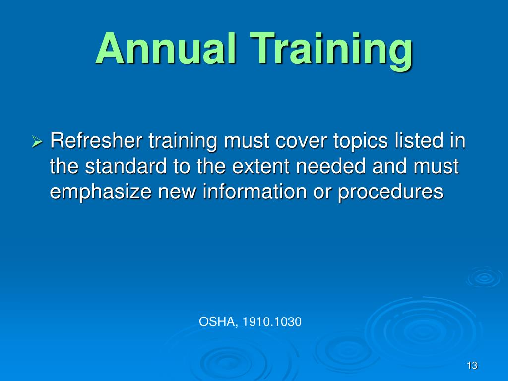 Annual Training