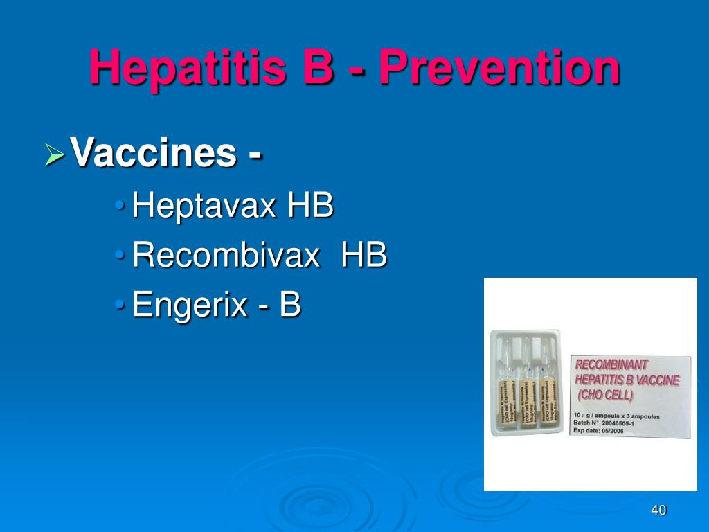 Hepatitis B - Prevention