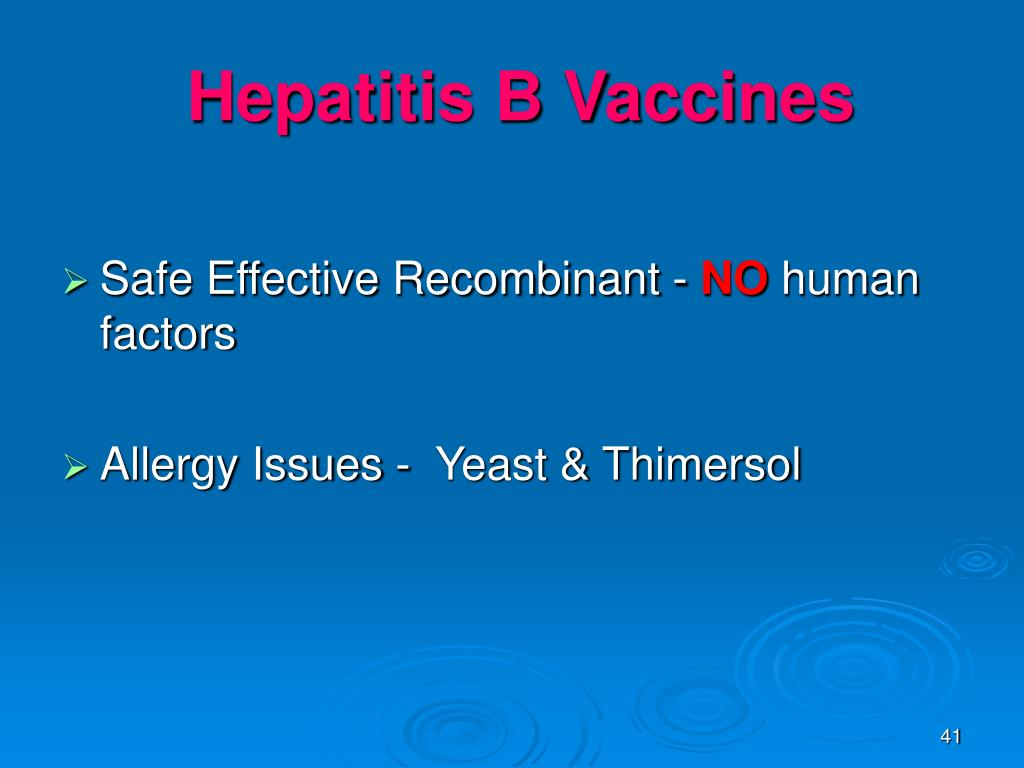 Hepatitis B Vaccines
