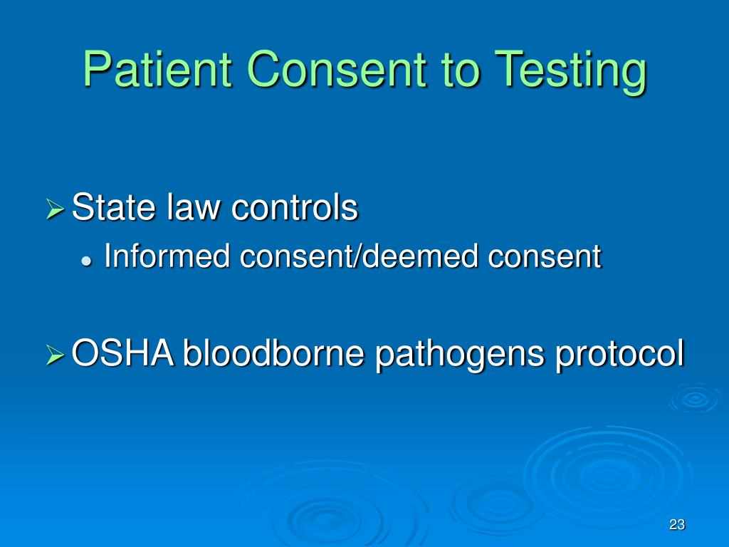 Patient Consent to Testing