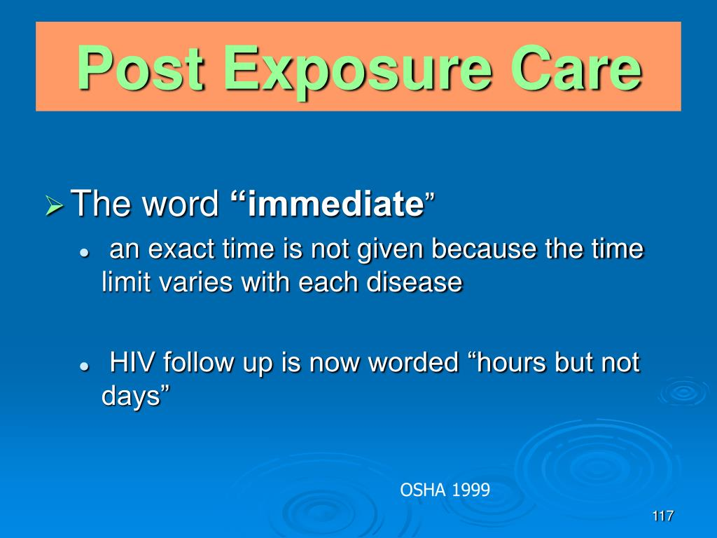 Post Exposure Care