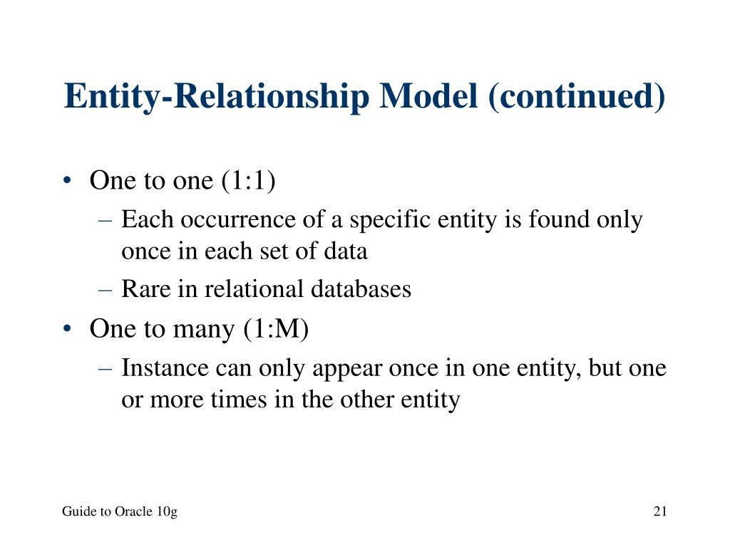 Entity-Relationship Model (continued)
