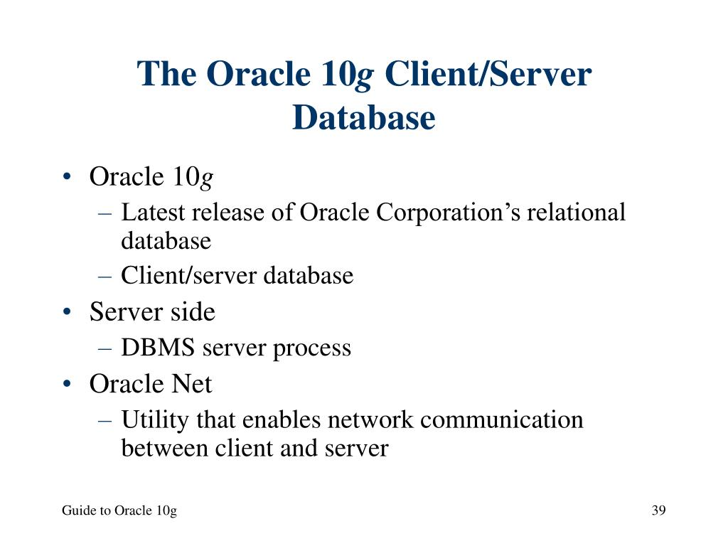 The Oracle 10