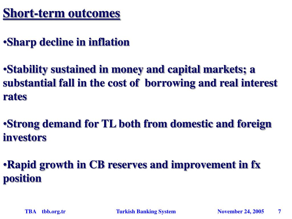 Short-term outcomes