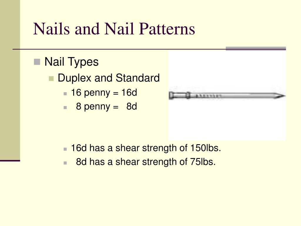 Nails and Nail Patterns