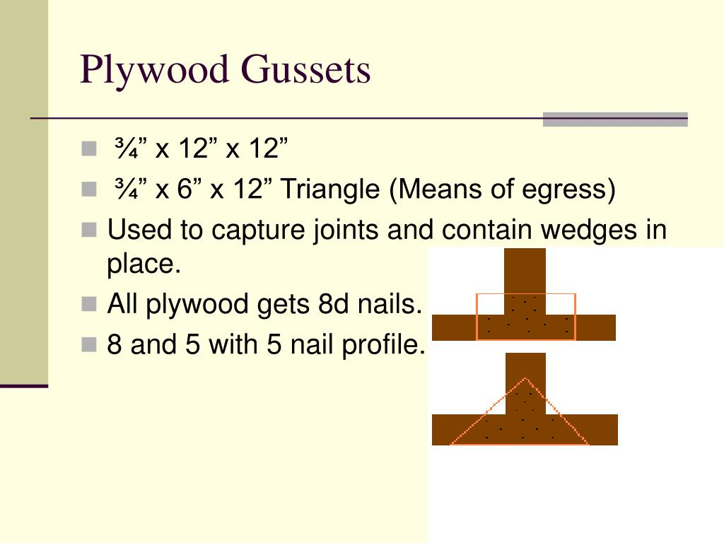 Plywood Gussets