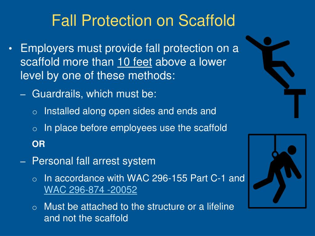 Fall Protection on Scaffold
