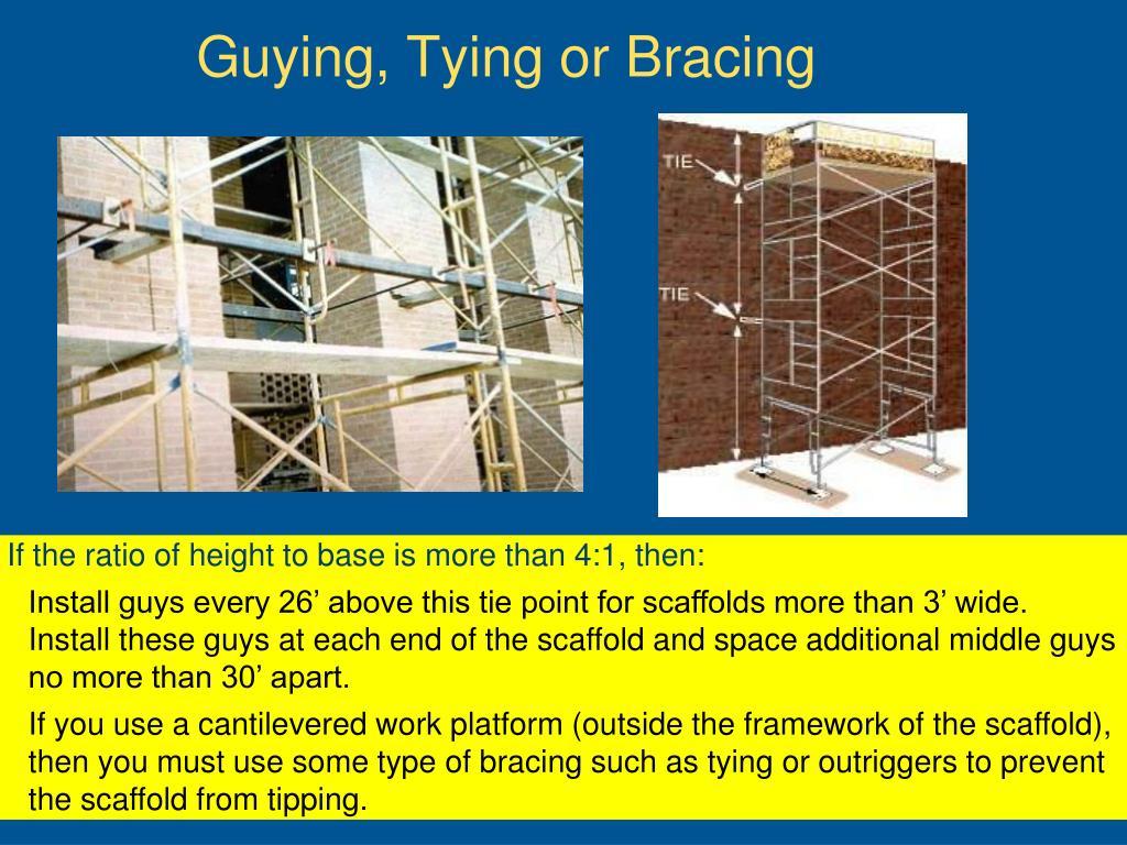 Guying, Tying or Bracing