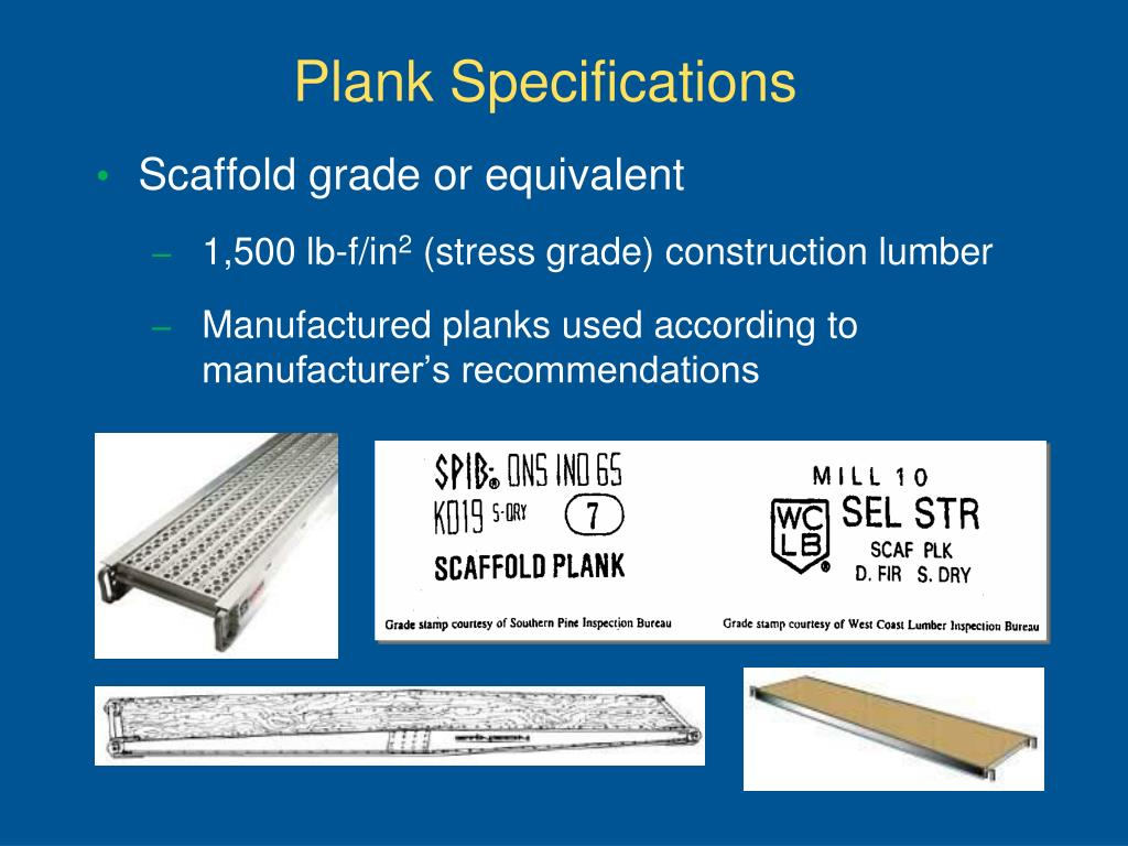 Plank Specifications