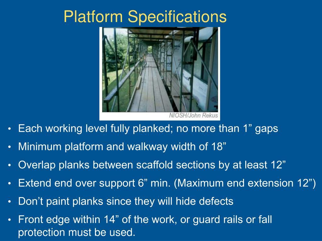 Platform Specifications