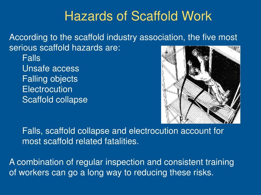 Hazards of Scaffold Work