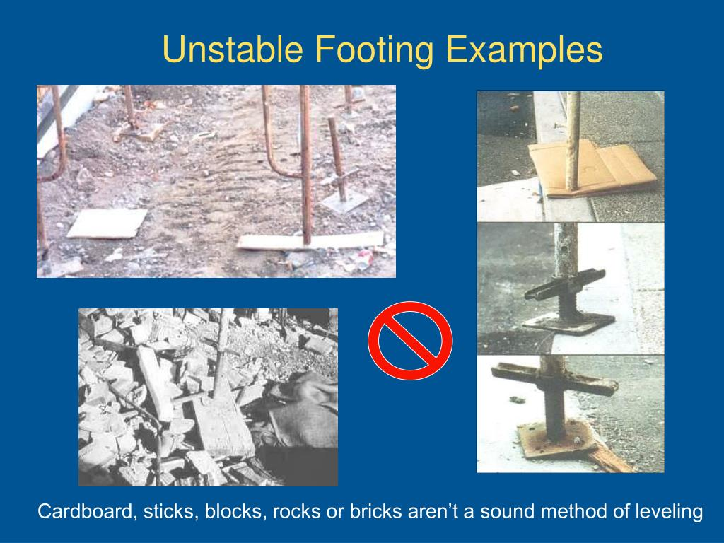 Unstable Footing Examples