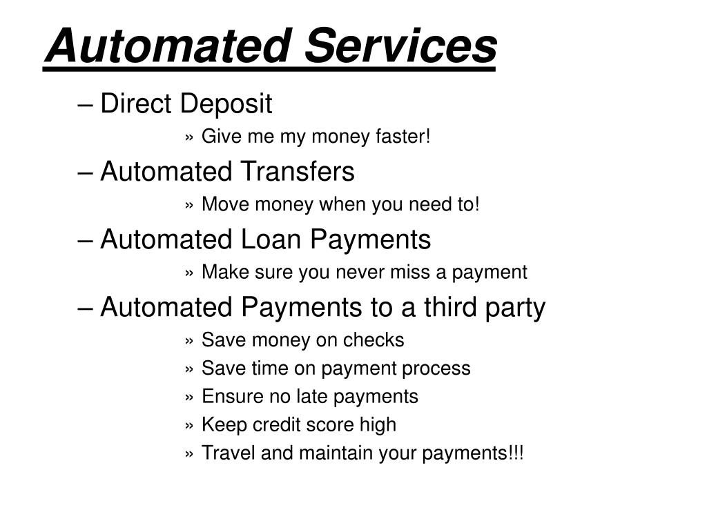 Automated Services