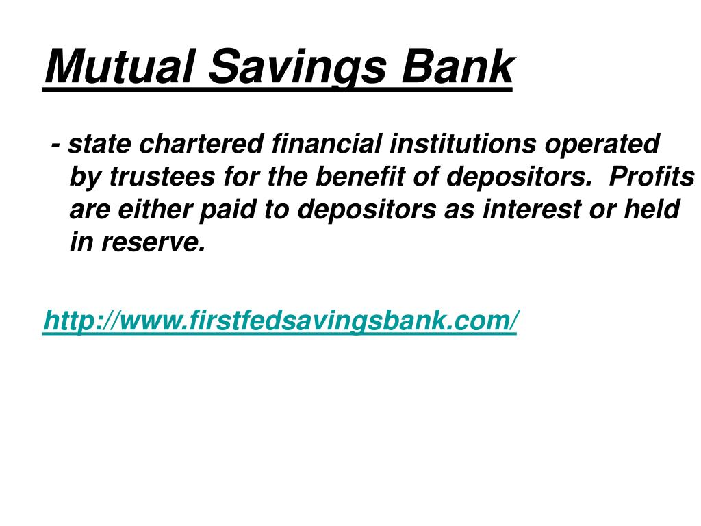 Mutual Savings Bank