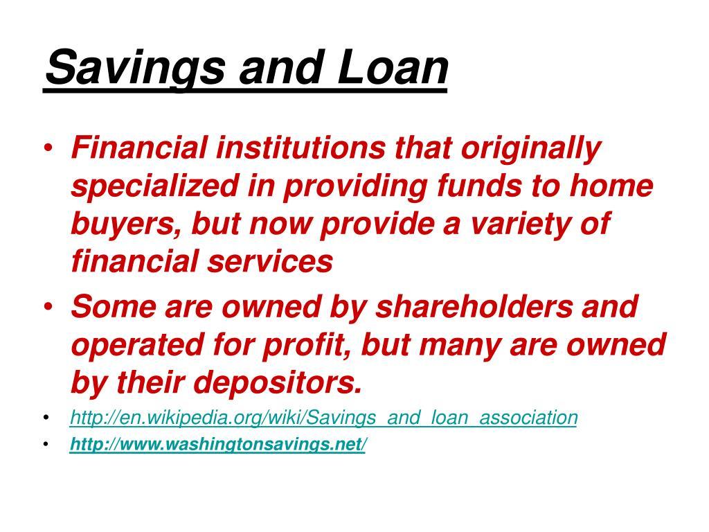 Savings and Loan