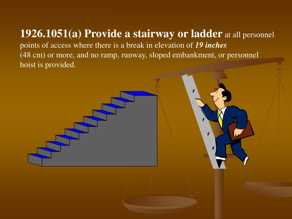 1926.1051(a) Provide a stairway or ladder