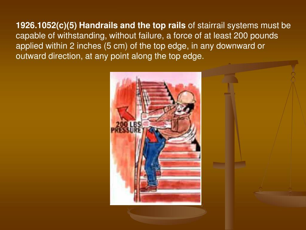 1926.1052(c)(5) Handrails and the top rails