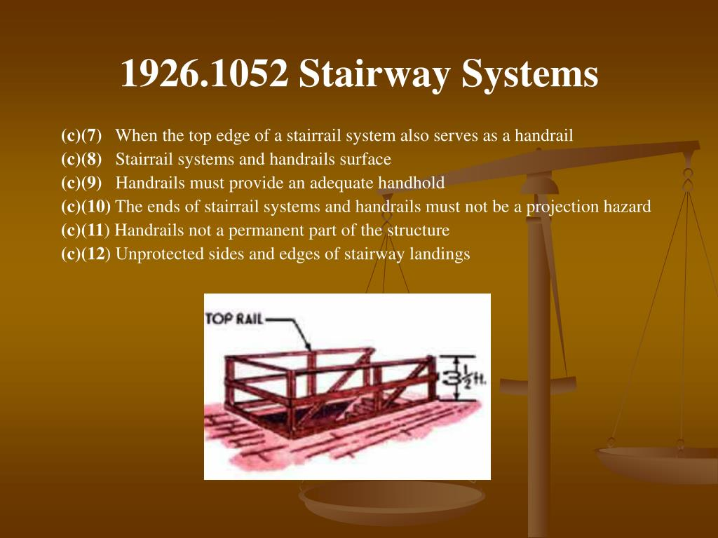 1926.1052 Stairway Systems