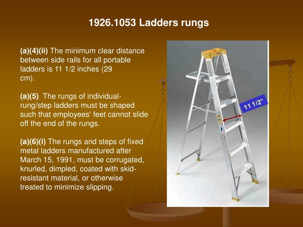 1926.1053 Ladders rungs