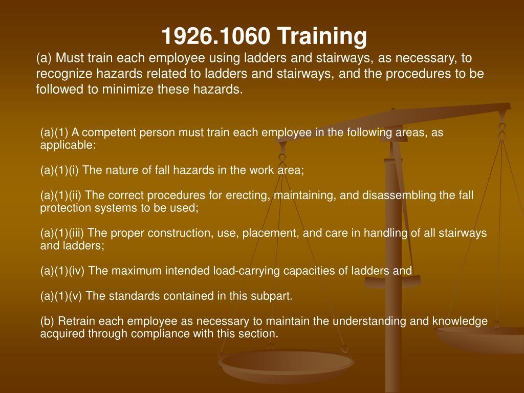 1926.1060 Training