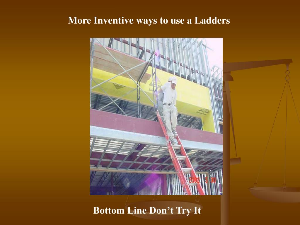 More Inventive ways to use a Ladders