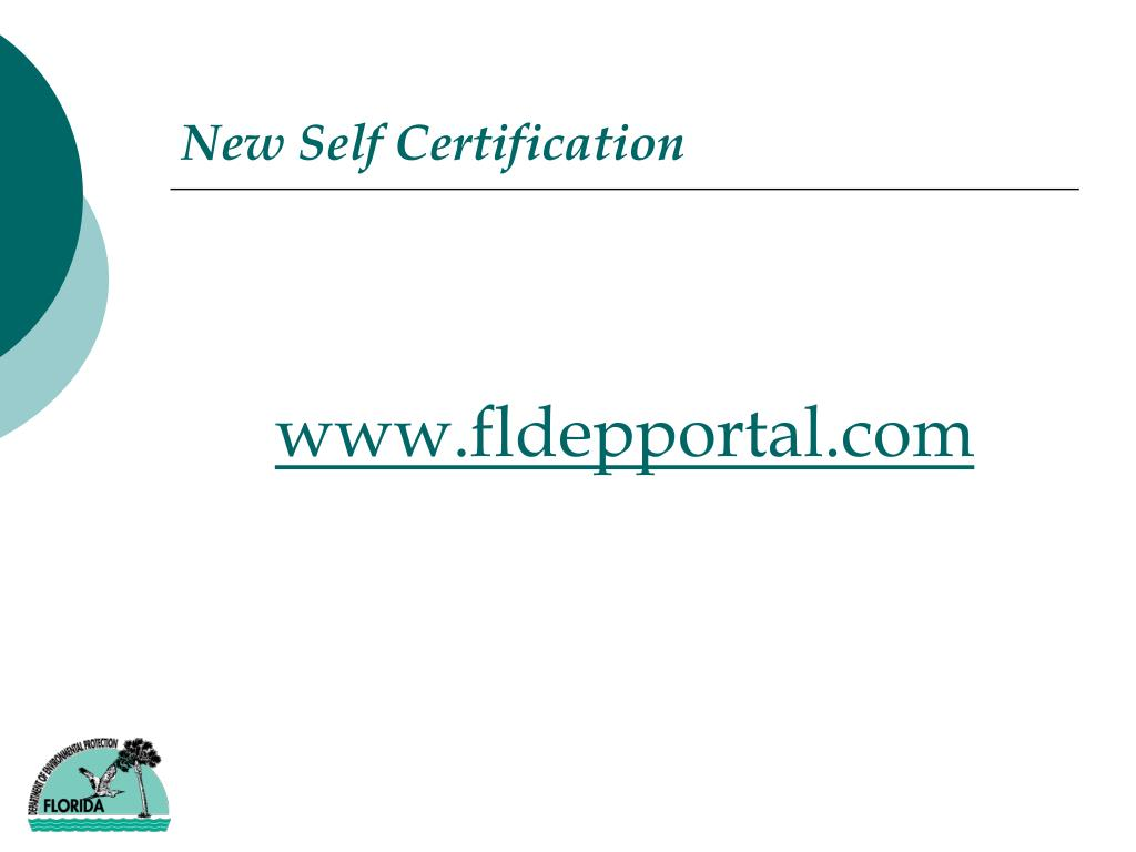 New Self Certification