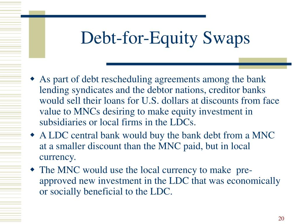Debt-for-Equity Swaps