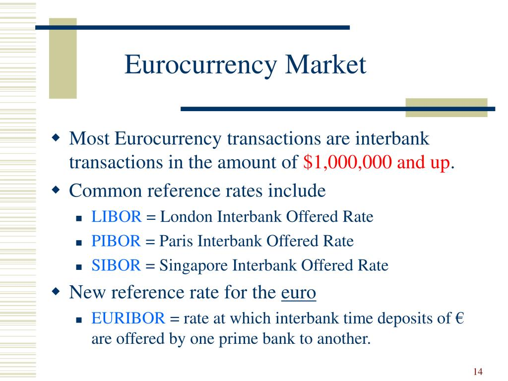 Eurocurrency Market